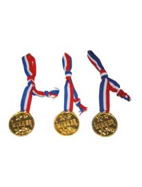 Medaille aan lint - 3 stuks (65023E)