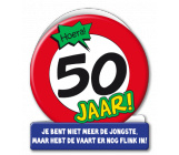 Wenskaart 50 jaar verkeersbord