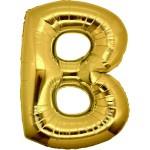 Folie Letter B - 100 cm Goud
