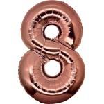 Folie Cijfer 8 - 100 cm Antiek Roze