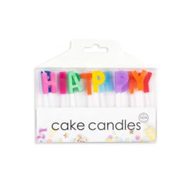 Taartkaarsjes - set HAPPY BIRTHDAY (05918GE)