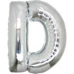 Folie Letter D - 100 cm Zilver