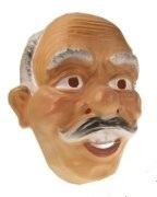 Masker oude man - grijze en witte haren  (34245P)