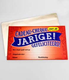Cadeau-cheque JARIGE! GEFELICITEERD (12PD)