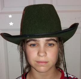 Cowboyhoed donker groen  (50300GF)