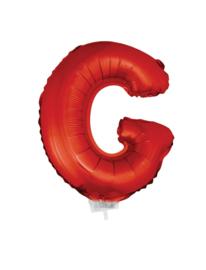 Folie Letter G - 41 cm Rood (met stokje)