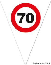 Vlaggenlijn 70 jaar Verkeersbord - 5 meter (84488E)