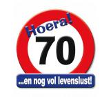 Huldeschild verkeersbord 70 jaar