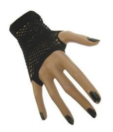 Nethandschoenen kort vingerloos Zwart (60432E)