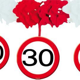 Slinger met onderhanger verkeersbord 30 jaar (05229F)