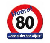 Huldeschild verkeersbord 80 jaar