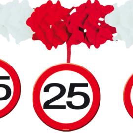 Slinger met onderhanger verkeersbord 25 jaar (05224F)
