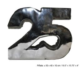 Pinata 25 jaar Zilver - 50 cm (66347E)