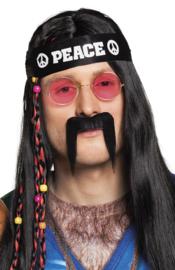 Snor Hippie zwart (01822B)