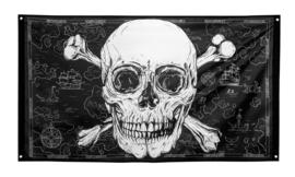 Piratenvlag -  150 x 90 cm (74108B)