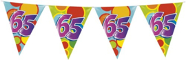 Vlaggenlijn ballonnen leeftijd 65 jaar (10 meter)