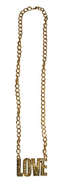 Gouden ketting Love (53395E)