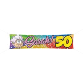 Banner / spandoek Sarah 50  -  180 x 40 cm (65641F)