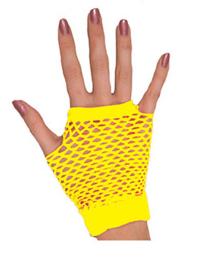 Nethandschoenen kort vingerloos Neon Geel (80063E)