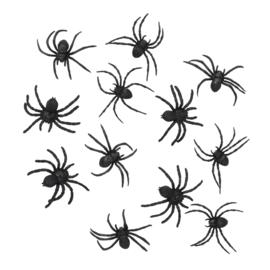 Spinnen 12 stuks - 7 cm (74466B)