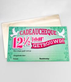 Cadeau-cheque 12 1/2 JAAR GETROUWD (28PD)