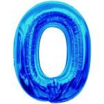 Folie Cijfer 0 - 100 cm Blauw