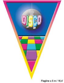 Vlaggenlijn Disco - 5 meter (84017E)