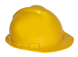 Verstelbare bouwhelm geel (59311E)
