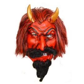 Masker Rode Duivel met gouden hoorns (60051W)