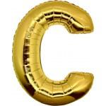 Folie Letter C - 100 cm Goud