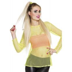 Visnet shirt neon Geel (01933B)