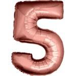 Folie Cijfer 5 - 100 cm Antiek Roze