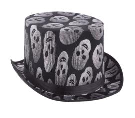 Hoge hoed skulls - doodshoofden (74944E)