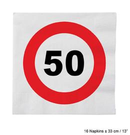 Servetten verkeersbord 50 jaar (84617E)