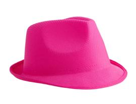Hoed fluo pink / roze (80185E)