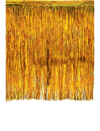 Tinsel gordijn Goud  245 cm x 300 cm brandvertragend (84398E)