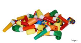 Roltongen / uitblazers - 24 stuks (66099E)