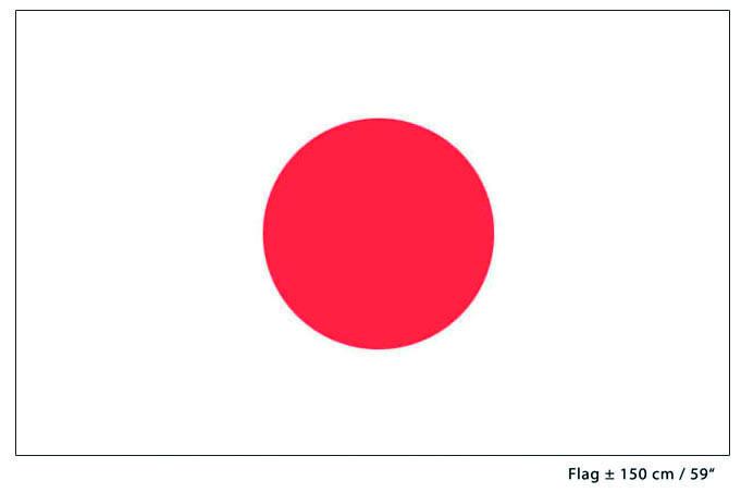 Vlag Japan - 90 x 150 cm (62249E)