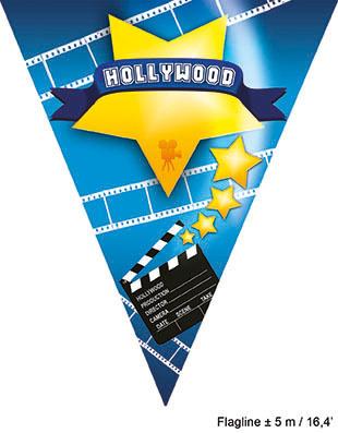 Vlaggenlijn Hollywood - 5 meter (84389E)