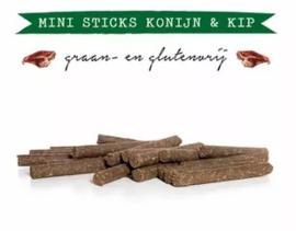 Kivo Mini Sticks Konijn & Kip - 20 stuks | Hond (AX)