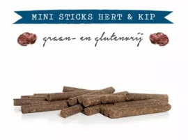 Kivo Mini Sticks Hert & Kip - 20 stuks | Hond (AE)