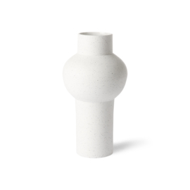 speckled clay vase round M || HK Living