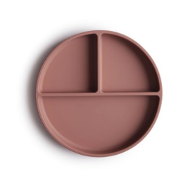 Silicone plate Cloudy Mauve    Mushie