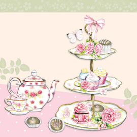 Ambiente Cocktailservet 25x25 High Tea Rose