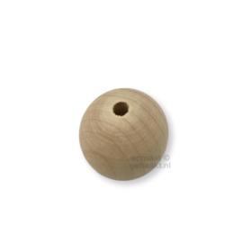 Blanke houten kralen | Rond | 35 mm