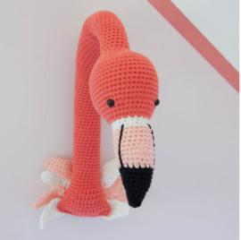 Gratis haakpatroon | Craft Kitchen | Flamingo muurhanger