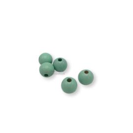 Gekleurde houten kraal - Mint