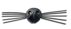 Veiligheidsneusje met snorharen | Zwart | 21 mm