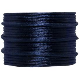 Satijnkoord donkerblauw | 2 mm
