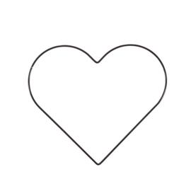 Metalen hart | 25 cm | Zwart